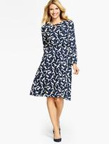 Talbots Swallow-Print Full Dress