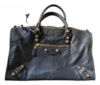 Balenciaga Weekender Anthracite Leather Handbags