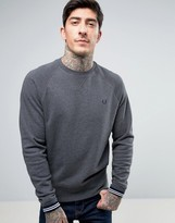 Fred Perry Crew Neck Sweatshirt in Gray