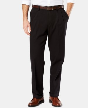 Dockers Easy Comfort Relaxed Fit Pleated Khaki Pants