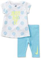 Nike Baby Girls 12-24 Months JDI Dotted Tee & Capri Pants Set