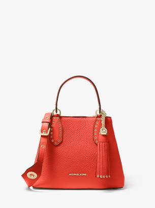 MICHAEL Michael Kors Brooklyn Small Pebbled Leather Satchel