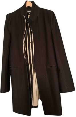 Ann Demeulemeester Black Wool Coat for Women