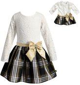 Dollie & Me Girls 4-14 Lace & Plaid Dress Set