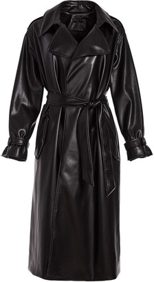 Alice + Olivia Vegan Leather Belted Trenchcoat