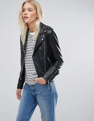 Lab Leather Biker Jacket