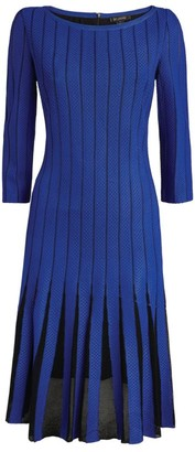 St. John Pleated Dress