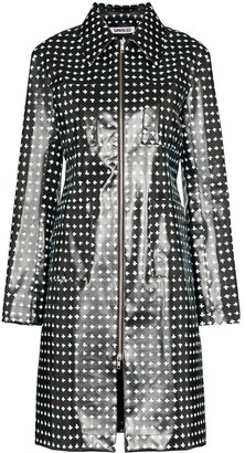 Supriya Lele Cross-Print Rubber Coat