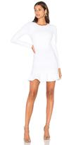 Donna Mizani Long Sleeve Ruffle Dress