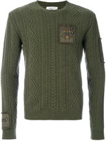 Valentino knitted insect sweater - men - Cotton/Polyester/Cashmere/Virgin Wool - S