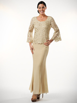 Soulmates D859709X Queen Bell Sleeve Tunic And Skirt Set