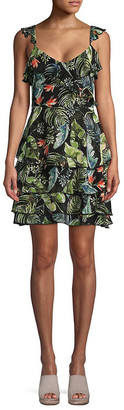 Sanctuary Printed Ruffled Day Dress