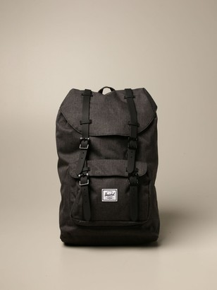 Herschel Canvas Backpack With Double Rubber Buckles
