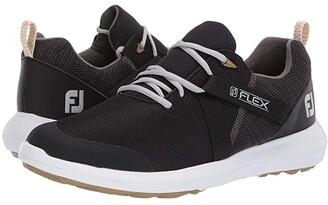 Foot Joy FootJoy FJ Flex Spikeless U-Throat Mesh Athletic All Over (Black) Men's Golf Shoes