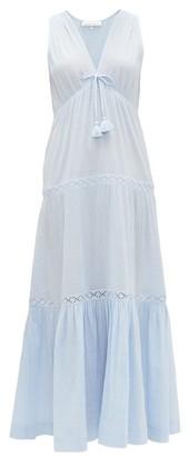 Heidi Klein Andalucia Tiered Cotton-muslin Maxi Dress - Blue