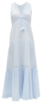 Heidi Klein Andalucia Tiered Cotton-muslin Maxi Dress - Womens - Blue