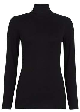 Dorothy Perkins Womens Black Long Sleeve Roll Neck Top, Black