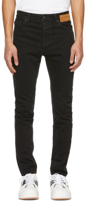 Palm Angels Black Curved Logo Jeans