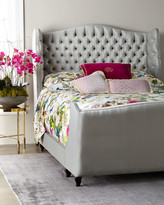 Haute House Beau Tufted Wing Back Queen Bed