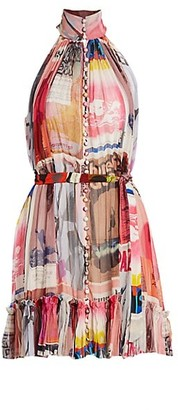 Zimmermann Wavelength Graphic Sleeveless Mini A-Line Dress