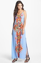 Lush Tropical Print Maxi Dress (Juniors)