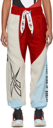 Pyer Moss Reebok By Reebok by Red and Off-White Collection 3 Sherpa Lounge Pants