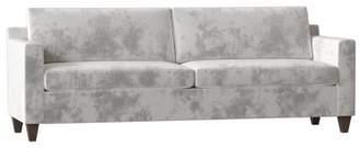 Uniquely Furnished Alice Track Arm Sofa Uniquely Furnished Body Fabric: Bella Brown Sugar, Leg Color: Brown Mahogany