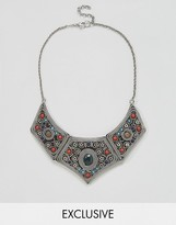 Reclaimed Vintage Inspired Embellished Detail Collar Necklace