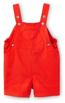 Petit Bateau Baby boy short overalls in plain twill