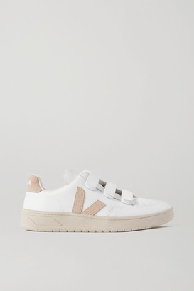 Veja V-lock Suede-trimmed Leather Sneakers - White
