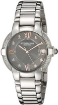 Stuhrling Original Women's Symphony Regent Countess Elite Swiss Quartz Genuine Diamond Date Bracelet Watch 338L.121154