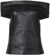 Rosetta Getty leather top - women - Leather - S