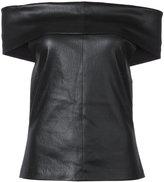 Rosetta Getty leather top