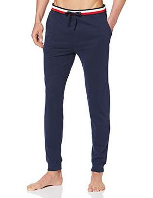 Tommy Hilfiger Men's Cuff Jersey Pant Thermal Trousers,Large (Size: LG)