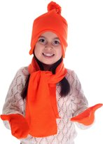 Simplicity Unisex Kids Winter Knit Fleece Hat Scarf and Glove Set