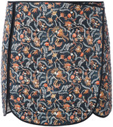 Isabel Marant quilted print skirt - women - Silk/Cotton - 38