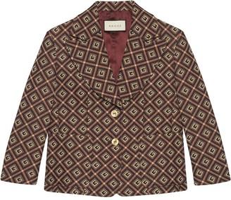 Gucci GG Damier jacquard single-breasted blazer