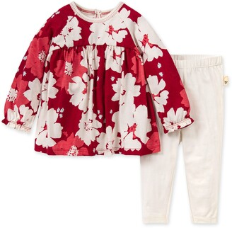 Burt's Bees Sprinkling Petals Baby Floral Tunic & Legging Set Made with Organic Cotton