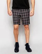 Asos Slim Smart Shorts In Check