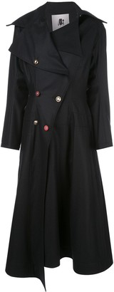 aganovich Asymmetric Double-Breasted Coat
