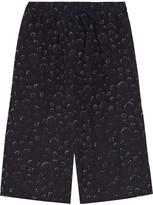Tibi Shibori printed crinkled cotton and silk-blend culottes