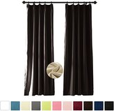 ChadMade Pinch Pleated Inch Velvet Thermal Insulated Blackout With Foam Coated Window Curtain Panel For Theater, Restroom, Bedroom, Livingroom, Meetingroom, Studio, Patio Door (1 Panel)