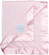 MyBlankee My Blankee Minky Dot Velour with Flat Satin Border, Baby Blanket 30x35
