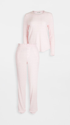 Emerson Road Fuzzy Luxe Waffle Crew Pants Set