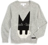 Burberry Toddler Girl's 'Cat' Cashmere Sweater