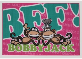 "Fun Rugs Bobby Jack BFF-Text Green/Pink Area Rug Rug Size: 1'7"" x 2'5"""