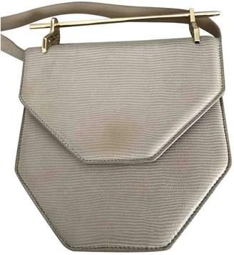 M2Malletier Beige Lizard Handbags