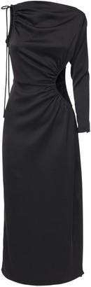 Cult Gaia Cyn One-shoulder Midi Dress W/ Cutout