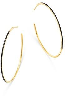 Bloomingdale's Black Diamond Hoop Earrings in 14K Yellow Gold - 100% Exclusive