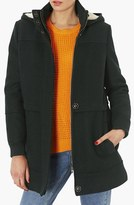 Topshop 'Charlie' Fleece Lined Hooded Coat